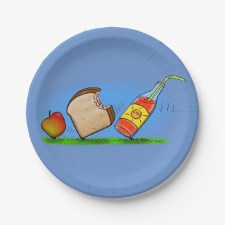 Funny picnic ants cartoon picture paper plate