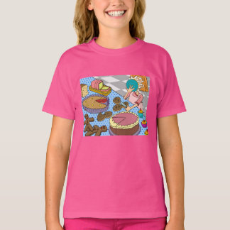 "Funny ""pie in the face"" Pink Kids' T-Shirt XS-XL"