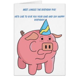 Funny Pig Birthday Card