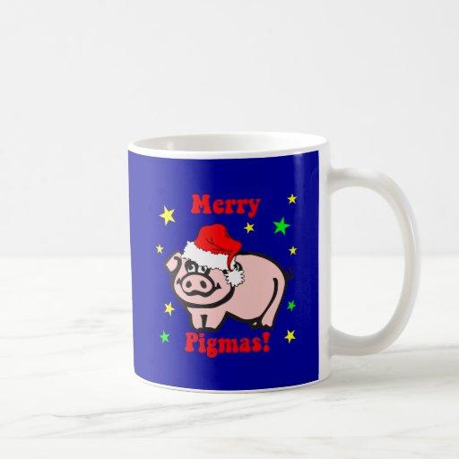Funny pig Christmas Mugs