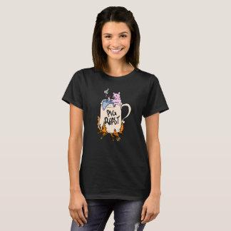 Funny pig roast graphic design hand illustration T-Shirt