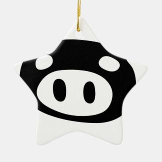 Funny Pig Shape Ceramic Star Ornament