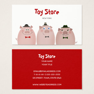 Funny Pigs Kids Toys Food Restaurant Kitchen Farm Business Card