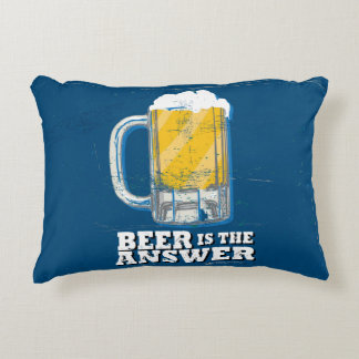 Funny Pillow - Beer is the Answer
