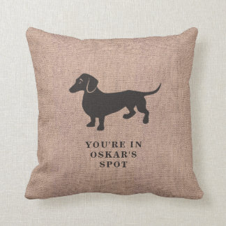 Funny Pillow Marks Dachshund's Spot on the Sofa