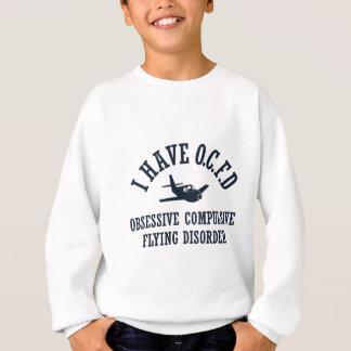 Funny Pilot OCFD Obsessive Compulsive Flying Sweatshirt