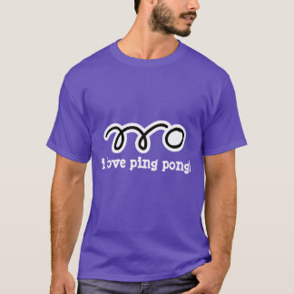 Funny ping pong t-shirt with table tennis slogan