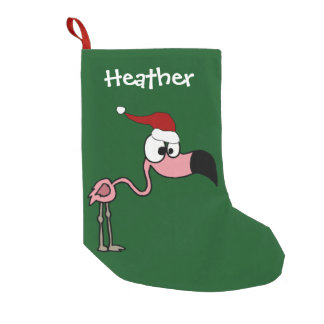 Funny Pink Flamingo Christmas Stocking