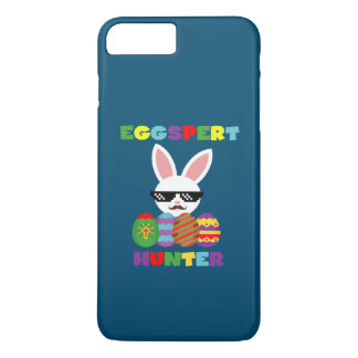 Funny Pink Hopping Easter Bunny for Egg Hunters iPhone 7 Plus Case