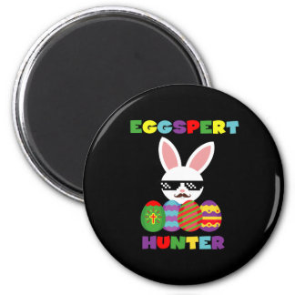 Funny Pink Hopping Easter Bunny for Egg Hunters Magnet