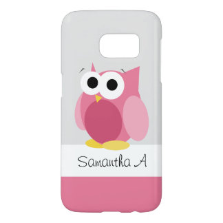 Funny Pink Owl - Personalized Samsung Galaxy S7 Samsung Galaxy S7 Case