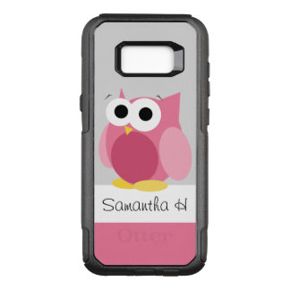 Funny Pink Owl Personalized Samsung Galaxy S8