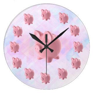 Funny Pink Pig Design Wallclock