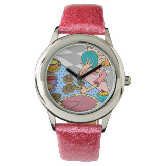 Funny pink watch for girls