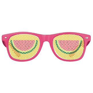 Funny pink watermelon fruit party shades glasses