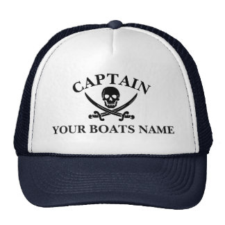 Funny pirate captains trucker hat