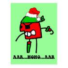 Funny pirate Christmas Postcard