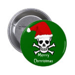 Funny Pirate Merry Christmas Greeting Arrrgh Matey Buttons