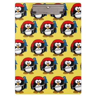 Funny Pirate Pinguin Clipboard