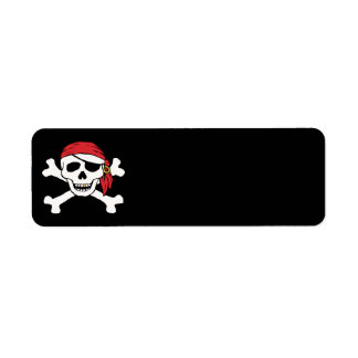 Funny Pirate Return Address Label