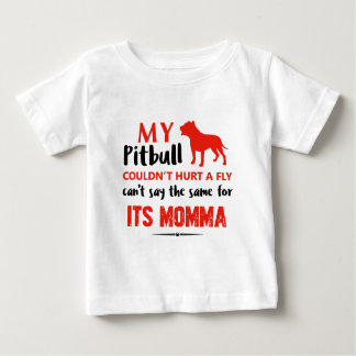 Funny Pit-bull Mommy designs Baby T-Shirt