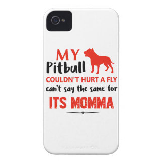 Funny Pit-bull Mommy designs iPhone 4 Case-Mate Case