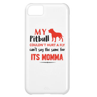 Funny Pit-bull Mommy designs iPhone 5C Cover
