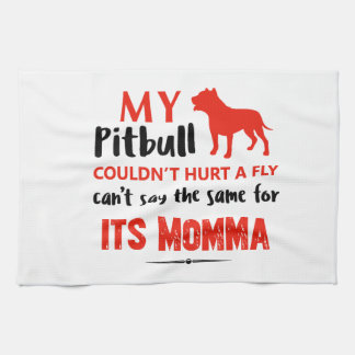 Funny Pit-bull Mommy designs Kitchen Towel