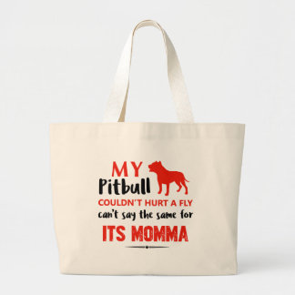 Funny Pit-bull Mommy designs Large Tote Bag