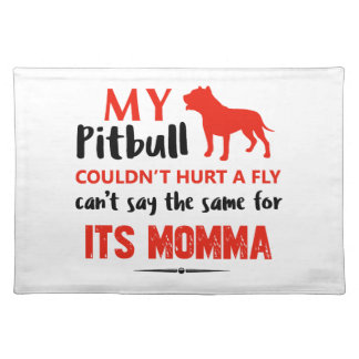 Funny Pit-bull Mommy designs Placemat