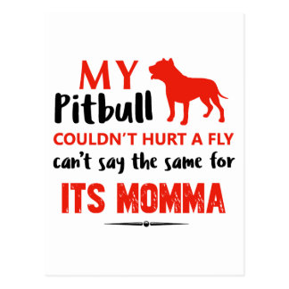 Funny Pit-bull Mommy designs Postcard