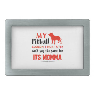 Funny Pit-bull Mommy designs Rectangular Belt Buckle