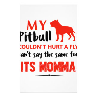 Funny Pit-bull Mommy designs Stationery