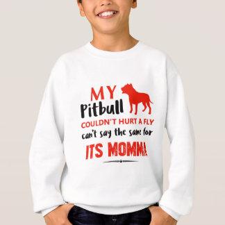 Funny Pit-bull Mommy designs Sweatshirt