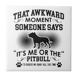 Funny Pitbull Designs Tile