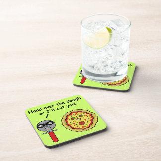 Funny Pizza Cutter Dough Pun Drink Coaster
