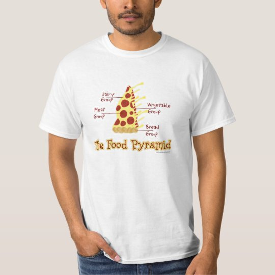 Funny Pizza Food Pyramid T-Shirt