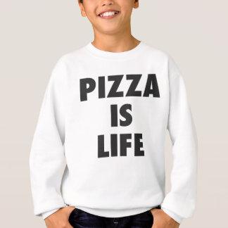 Funny Pizza is Life Fast Food Print Sweatshirt