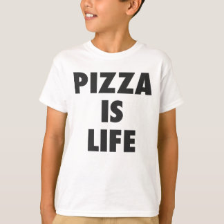 Funny Pizza is Life Fast Food Print T-Shirt