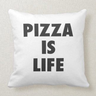 Funny Pizza is Life Fast Food Print Throw Pillow