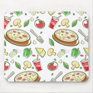 funny pizza pattern vol1 mouse pad