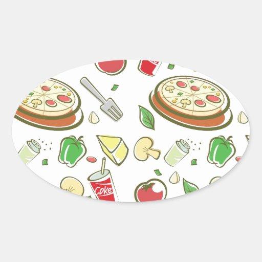 funny pizza pattern vol1 sticker