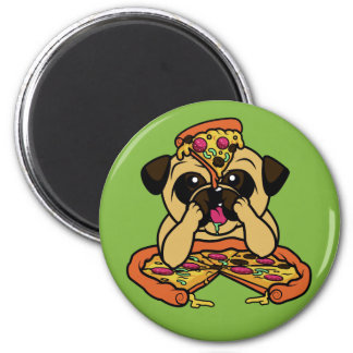 Funny Pizza Pug magnet