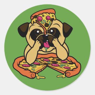 Funny Pizza Pug stickers
