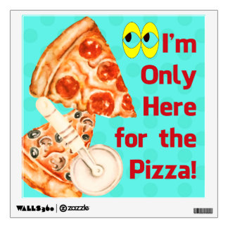 Funny Pizza Wall Decal Perfect for Pizza Fans
