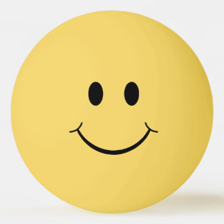 Funny Plain Smiley Face Ping Pong Ball