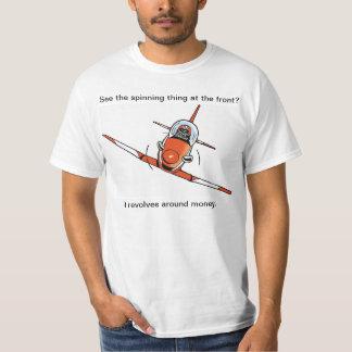 Funny Plane Proppelor Joke Cartoon Shirt