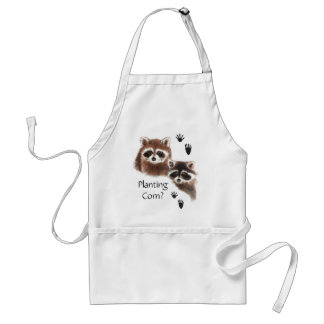 Funny, Planting Corn? Garden Cute  Raccoons Standard Apron
