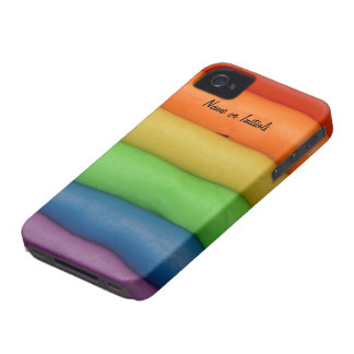 Funny Play Dough in Rainbow Colors Case-Mate iPhone 4 Cases
