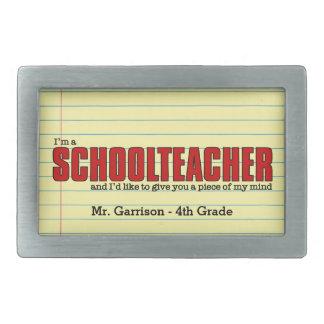 Funny Play on Words for Teachers Custom Belt Buckle